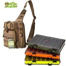 Dream Fishing 14*24*29cm Multifunctional Tackle Bag Box Waterproof Nylon Lure Large Capacity Backpack Pesca