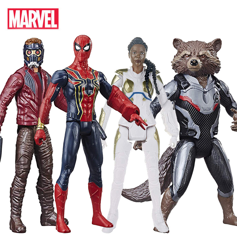 Marvel Avengers Endgame Guardians Of The Galaxy Spiderman Valkyrie Star-Lord Rocket Raccoon Action Figure Toy For Children