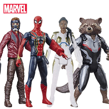 Marvel Avengers Infinity War and End Game Titan Hero Series: Star Lord, Spider Man, Valkyrie and Rocket Raccoon 6inch.