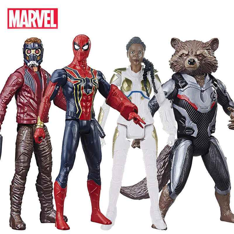 Endgame 30 centímetros Vingadores Marvel Guardians Of the Galaxy Spiderman Valkyrie Star-Lord Rocket Raccoon Action Figure Toy para crianças