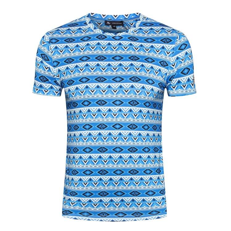 Erkek Kıyafeti'ten Tişörtler'de MILYARDER T gömlek erkekler 2019 yaz yeni Moda rahat Ince Baskı esneklik zarif İngiltere pamuk O boyun ücretsiz kargo'da  Grup 1
