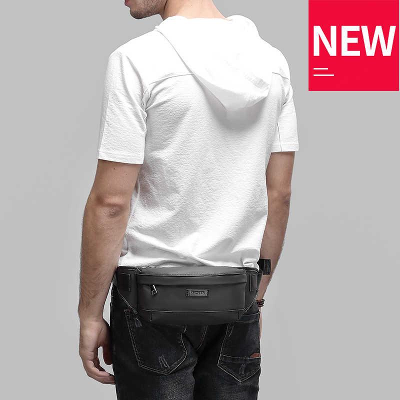 EURCOOL mochila de cintura negra para hombre, mochila para dinero, bolsa para cinturón, bolsa de viaje pequeña, bolsa de mensajero y cintura para hombre n1830