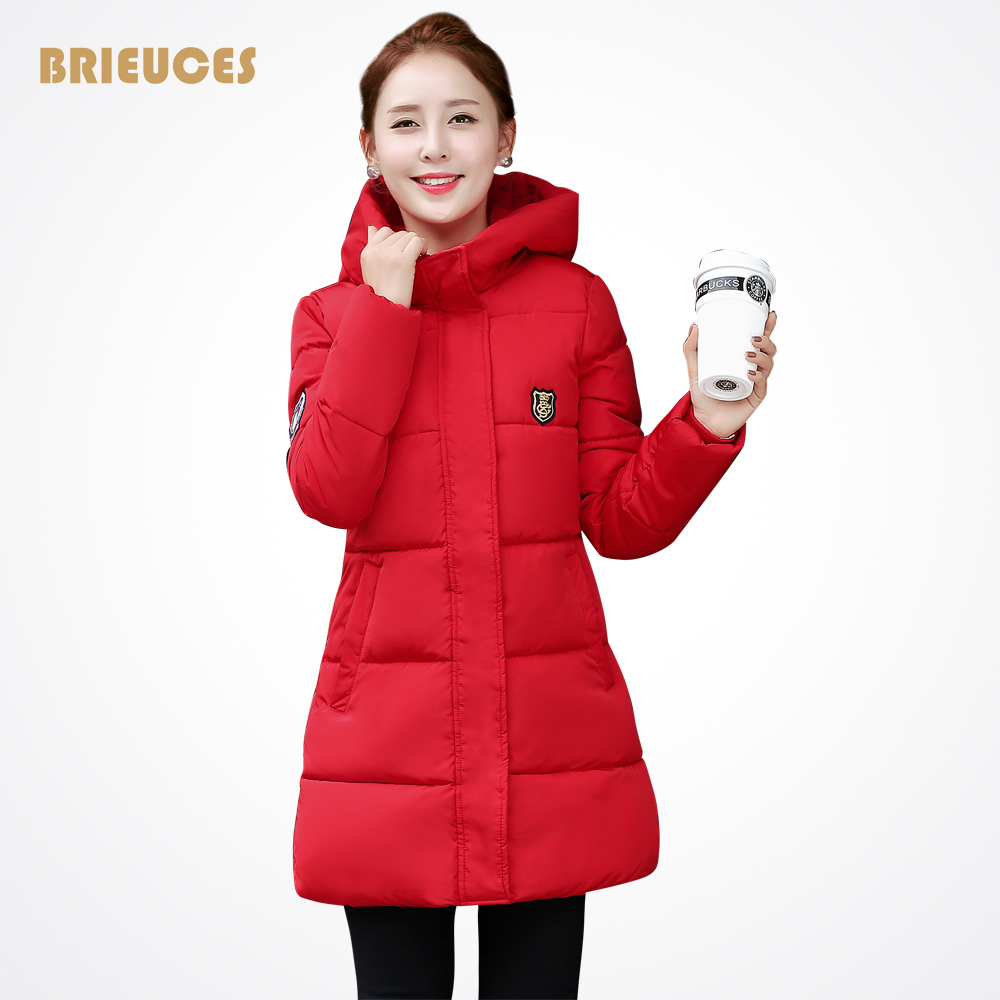 Brieuces New Long Parkas Female Women Winter Coat hooded Thickening down Cotton Winter Jacket Womens Outwear Parkas for Women fashion 2016 lengthen parkas female women winter coat thickening down winter jacket women outwear parkas for women winter w0033