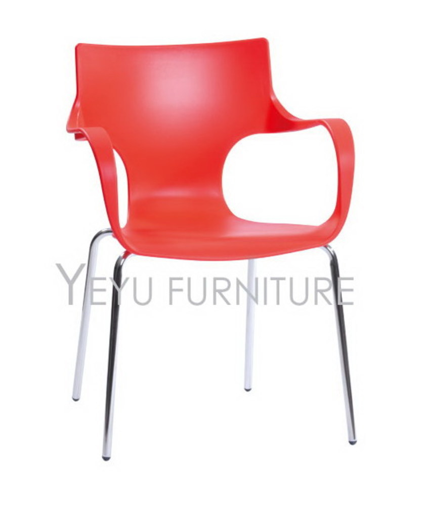 Modern Home Dining Side Chair Minimalist Modern Design Chair Simple Design Caft Loft Chairs Plastic and steel base chair 1PC