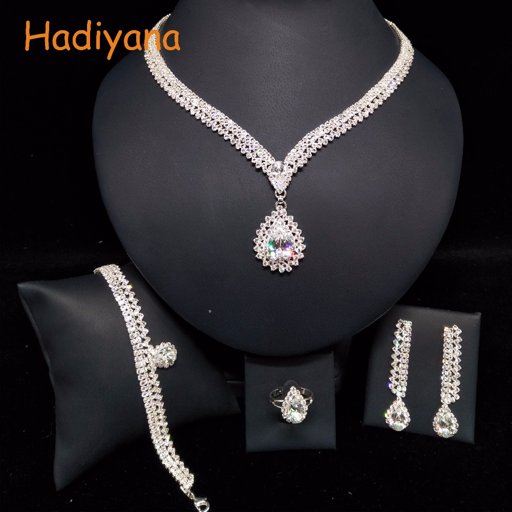 Sparkling Crystal Block Ring Chandelier: Aliexpress.com : Buy HADIYANA Fashion Water Drop Pendant