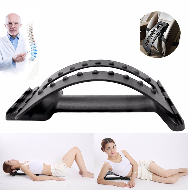 Black Car Seat Cushion Lumbar Waist Back Massage Support Lumbar for Car Automobiles Office Chair Relief Back Spine Pain Househol