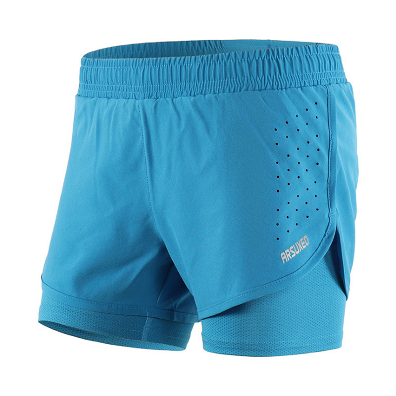 """Women Quick Dry Sports 3"""" Running Shorts Active Training Exercise Jogging 2 IN 1 Shorts With Longer Liner 5 Colors"""