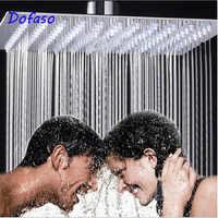 Dofaso 20cm Hochdruck ShowerHead niederschläge 8 ''Edelstahl runde & Square dusche kopf hochdruck Über-kopf