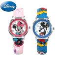 Mickey Minnie mouse children lovely water resistant watch Boys girls fashion casual Kids leather steel watches Hapiness 14003