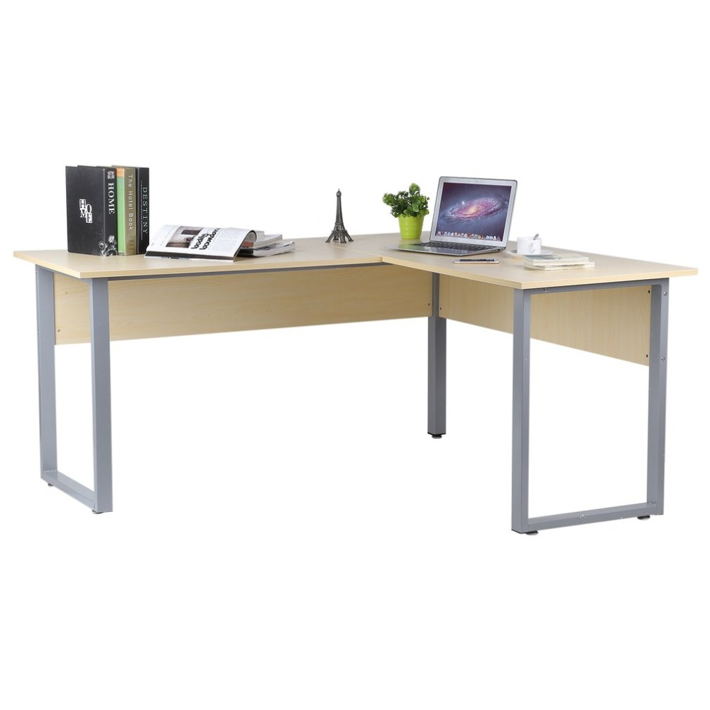 Multi-Purpose L-Shaped Computer Desk Large Work-Space Area Corner Desk Official Business Computer Table For Home Living Room multi purpose l shaped computer desk large work space area corner desk official business computer table for home living room