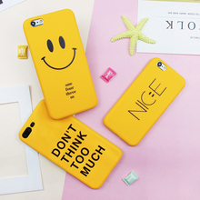 Funny Matte Soft Case On For iPhone 6 6s 7 8 Plus TPU Silicone Back Cover for iPhone X 8 7 6 6S Plus Cute Smiling Face Case matte anti fingerprint soft tpu case for iphone 6s 6 4 7 inch black