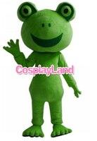 Halloween Kermit The Frog Mascot costume Adult Top Quality Cartoon Frog Cartoon Costumes