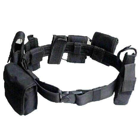 GENUINE US ARMY POLICE BLACK LEATHER HANDCUFF BELT POUCH