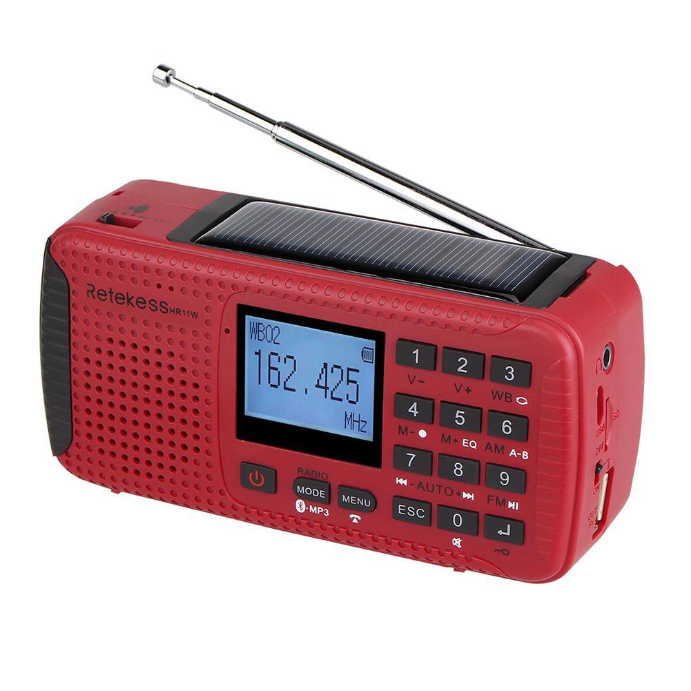 Radio Portable lecteur MP3 d'urgence manivelle récepteur solaire FM Radio MW SW avec TF Bluetooth lecteur MP3 enregistreur numérique