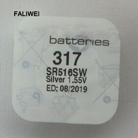 Batteries Brave 2pcs /lot 317 Sr516sw 1.55v Watch Battery Silver Oxide Coin Cell Good Quality We Take Customers As Our Gods