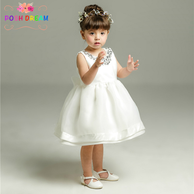 cd872f635 1-12y Ivory Christening Gowns Princess Baby Girls Dress 1Year Birthday Baby  Gown Tutu Dress Newborn Baby Wedding Party Dress