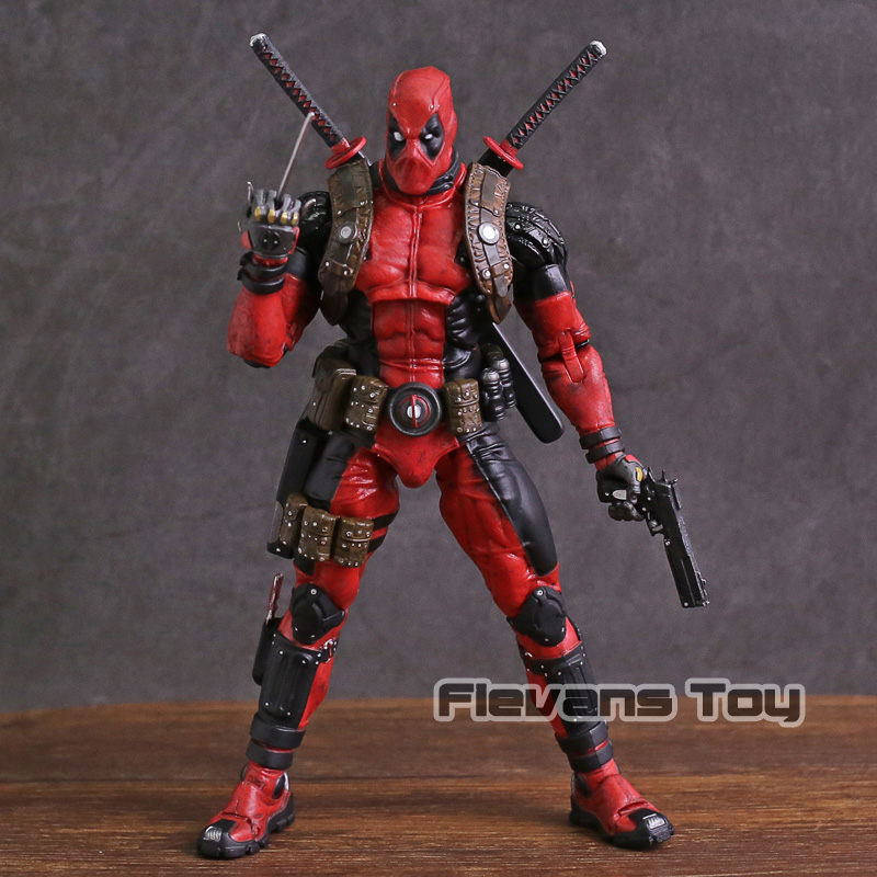 NECA Deadpool Ultimate Collector's 1/10 Scale Epic Marvel PVC Action Figure Collectible Model Toy fantastic four knight ultimate stonema thing human torch doll handmade toy model marvel t21