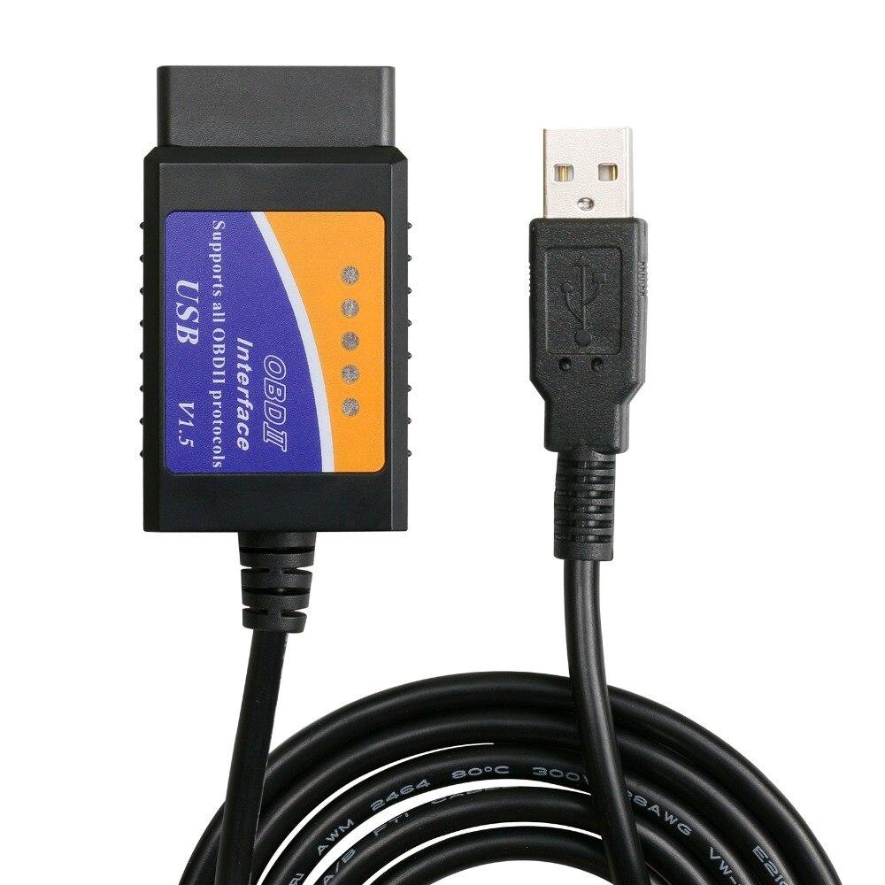 Aliexpress.com : Buy Top ELM327 USB Plastic OBD2 Auto ...