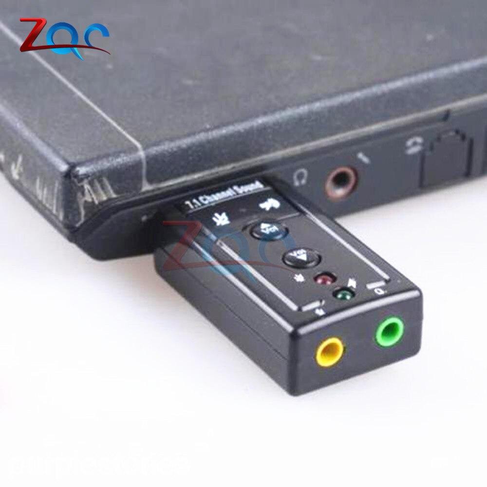 Mini External USB 2.0 Sound Card 7.1 Channel 3D Virtual 12Mbps Audio Mic Speaker Microphone 3.5mm Jack Stereo Headset orico mini external usb sound card stereo mic speaker headset audio jack 3 5mm adapter mute switch volume adjustment free drive