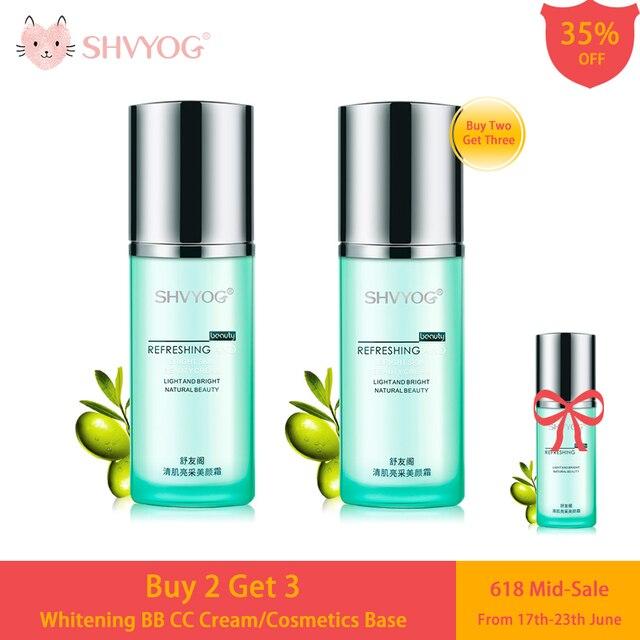 SHVYOG BB Cream CC Whitening Cosmetics Base Concealer Maquillaje Coreano Professional Covering Foundation Sunscreen Makeup Women