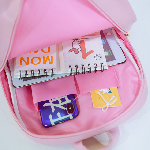 Cute Zippered Transparent Backpack