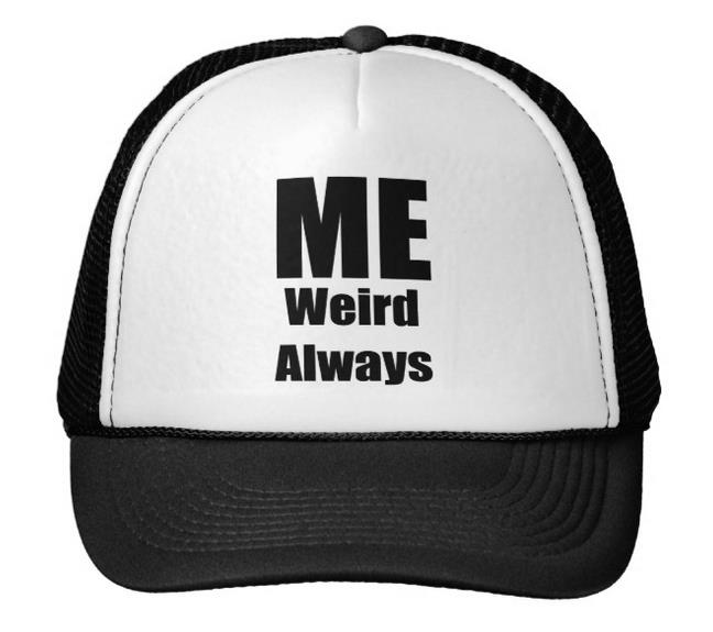 09bbef44edf ME WEIRD ALWAYS Letters Print Baseball Cap Trucker Hat For Women Men Unisex  Mesh Adjustable Size Black White Drop Ship M 97-in Baseball Caps from Men s  ...