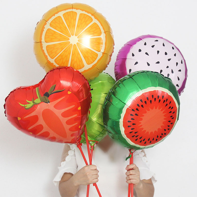 18inch Fruit Foil Helium Balloon Happy Birthday Party Decoration Wedding Decoration Summer Party Supplies Kids Toy in Ballons Accessories from Home Garden