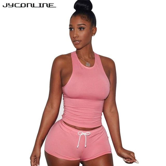 42fc2a8ec9 JYConline Sexy Bodysuit Women Rompers And Jumpsuit 2017 Summer Bodycon  Jumpsuit Playsuit 2 Piece Sets Plus Size Shorts Overalls