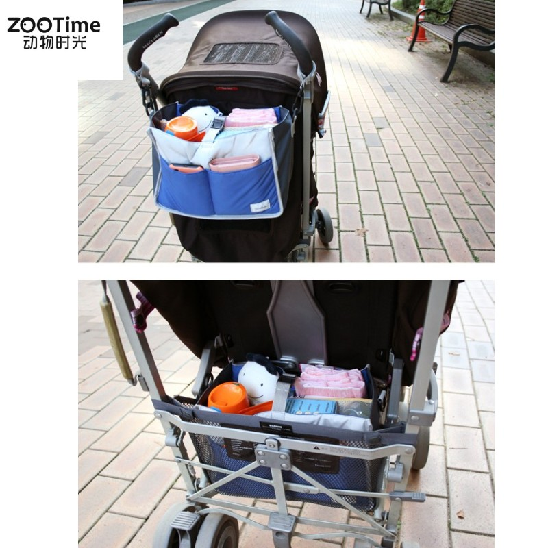Zootime Baby Strollers Accessories Baby Carriage Pram Cart Bottle Diaper Bag Polyester Newborn Nappy Bag Stroller