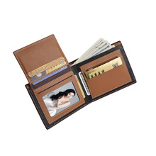 New Men Short Wallets Black Brown Bifold Wallet Mens Brand Leather Card Holder Money Cash Wallet Purses Pockets