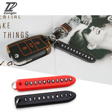 ZD 1X Cell Phone Number Card Keychain For Opel astra g h j i