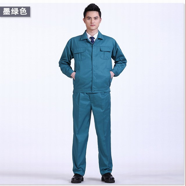 Printable word Spring and autumn clothing set male long-sleeve work wear protective clothing workwear