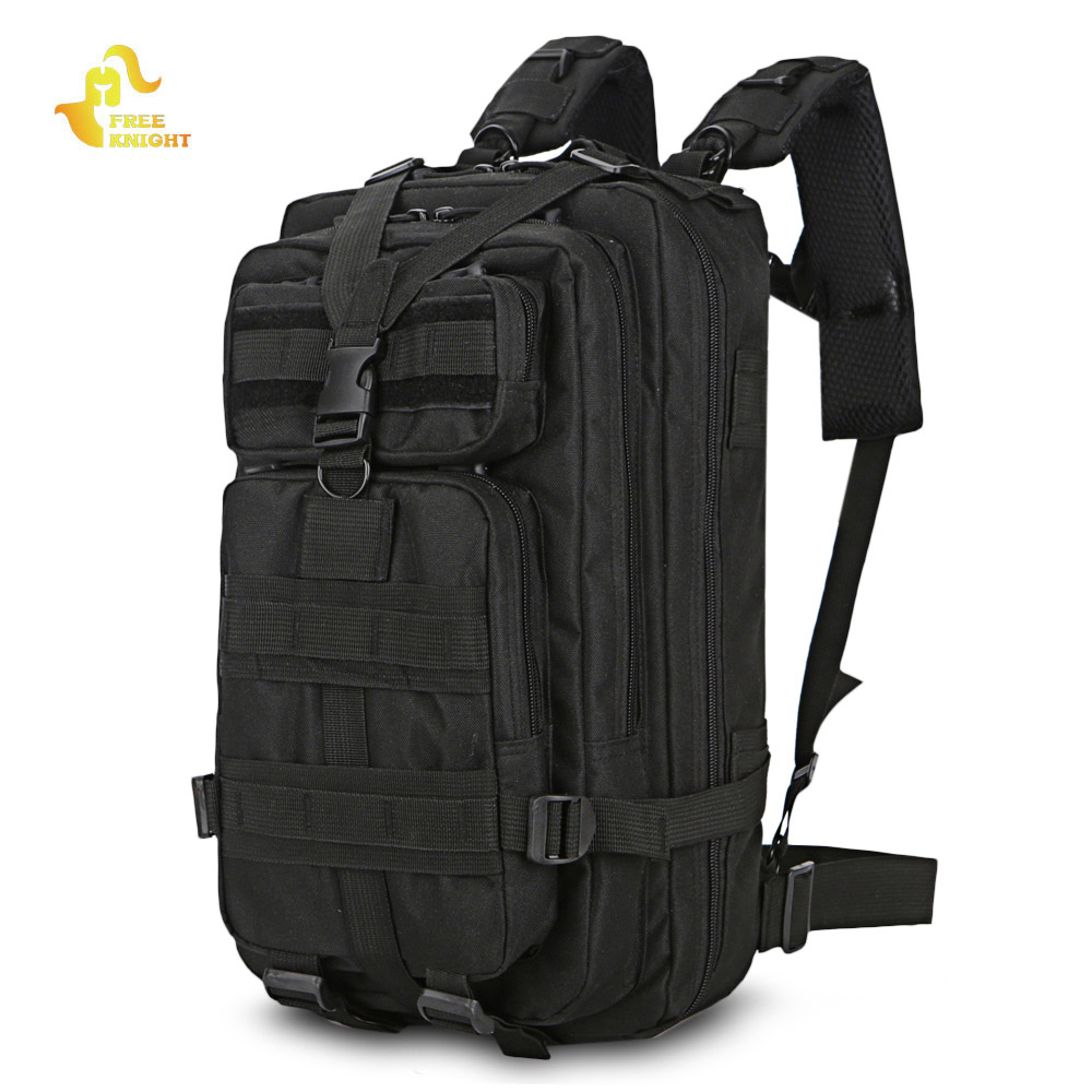 Free Knight Military Tactical Backpack 3 Day Assault Pack Army Molle Bug Out Bag Trekking Camping Hiking Outdoor Small Rucksack 35l men women military army backpack trekking camouflage rucksack molle tactical bag pack schoolbag waterproof acu black xa161wa