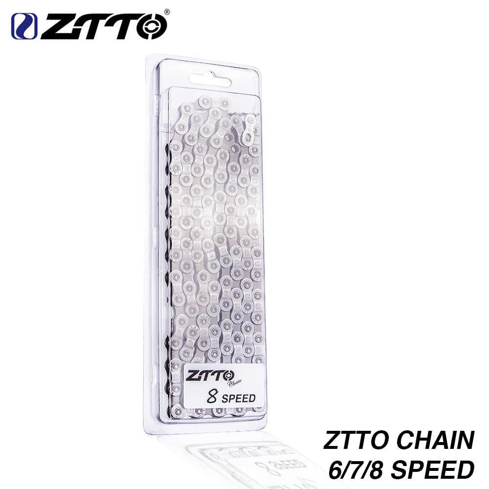 Ztto MTB горный велосипед запчасти дорожных велосипедов Высокое качество прочная цепь 6 7 8 18 21 24 Скорость S для Запчасти K7 Системы