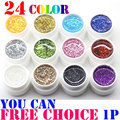 24 Colors Free choice Perfect Polish Gel Long-lasting Soak-off UV big nail Glitter Summer Nail Gel Soak off Lacquer