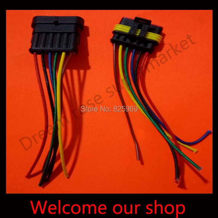 5 sets DJ7051-1.5 6Pin car connector with 10cm wire ,car oxygen sensor plug,Car waterproof electrical connector for car ect.