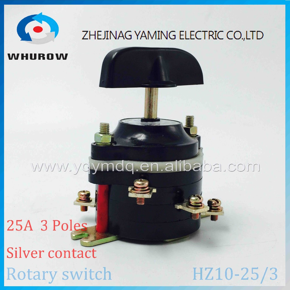 цена на Rotary switch HZ10-25/3 transfer changeover cam universal switch welding machine 380V 25A 6 pins combined switch