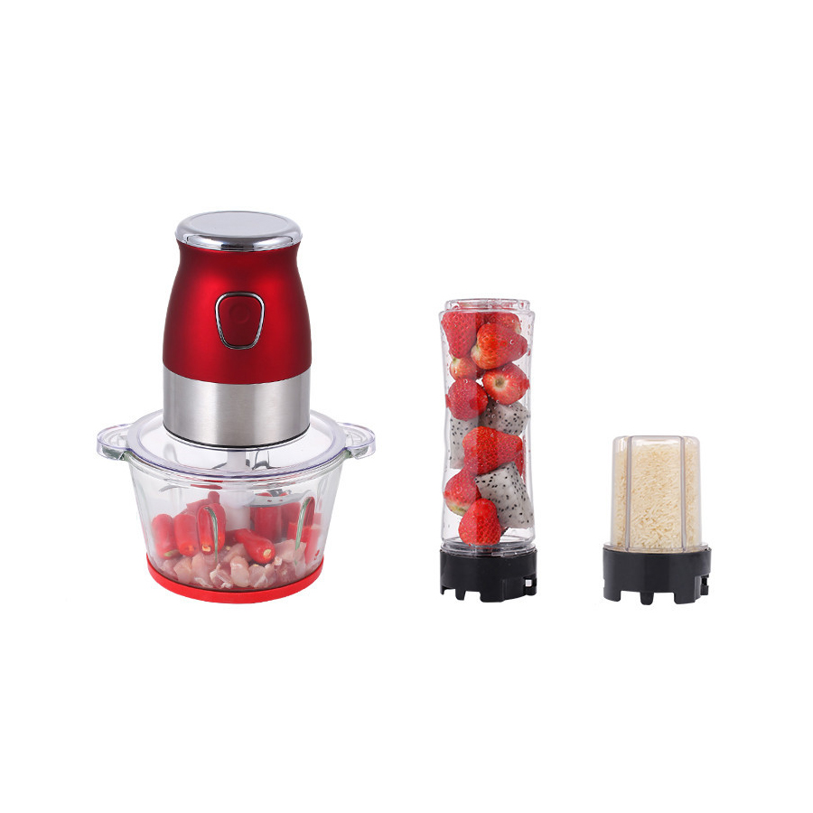 3 IN 1 2L Automatic Powerful Electric Meat Grinder 300W Multifunctional Electric fruit grinder Grinding powder machine Factory 3 IN 1 2L Automatic Powerful Electric Meat Grinder 300W Multifunctional Electric fruit grinder Grinding powder machine Factory