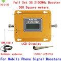 LCD 70db 3G WCDMA 2100 Mhz 3G Repetidor Del Teléfono Móvil 3G Amplificador de Señal WCDMA Repetidor de Señal Del Amplificador y Cable de Antena Lechón