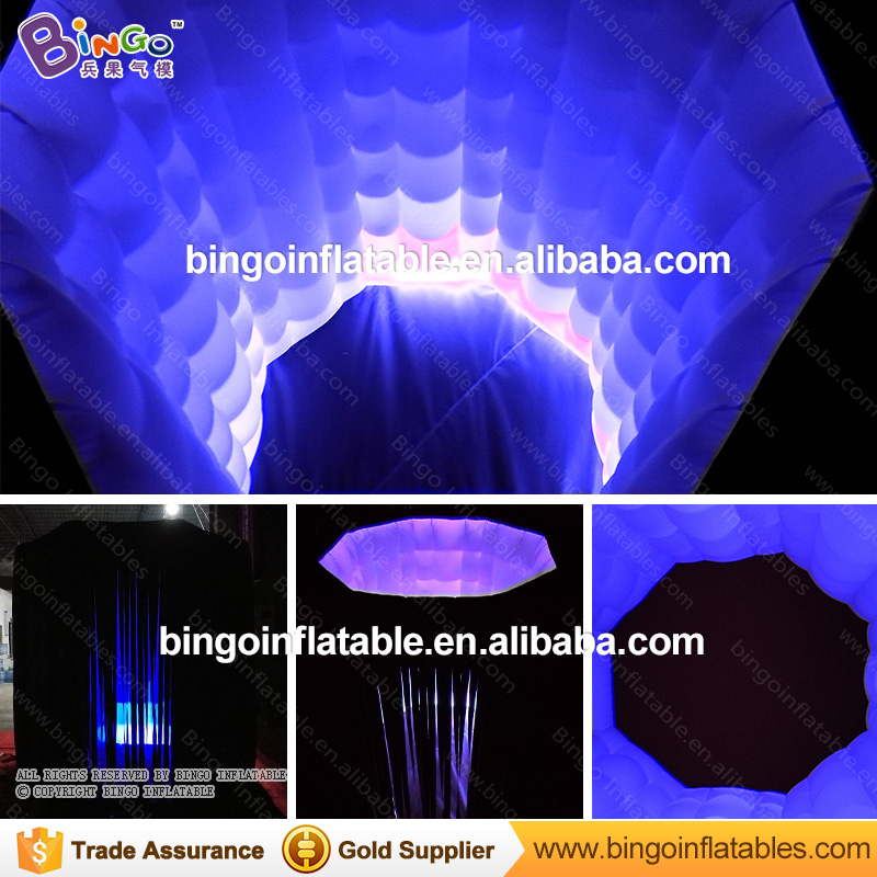 New custom 2.4m octagon inflatable photo booth/inflatable photo tent/inflatable party tent toy tent wonderful cube led inflatable tent inflatable trade show house inflatable photo booth toy tent