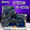 Akemy для ASUS PU451LD PU451 PU451L материнская плата для ноутбука i5-4200U 1G видеопамять PU451LD материнская плата REV2.0 100% протестированная