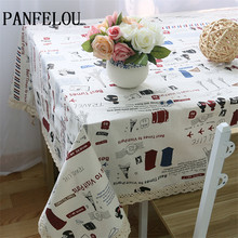 PANFELOU Lovely Sweet Childhood Fun Cartoon Decoration Kitchen Table Cloth  Tea Table Cloth Cover Towel Cloth