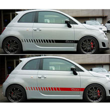 Stiker Vinyl Sisi Garis untuk Fiat 500 Abarth Balap ROCKER Lampu Chrome Da-rt789(China)