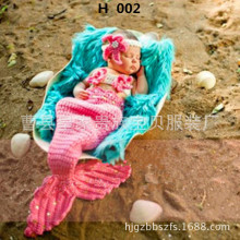 Newborn baby childrens 100 day photography clothing hundred photo studio props hand woven Mermaid wholesale