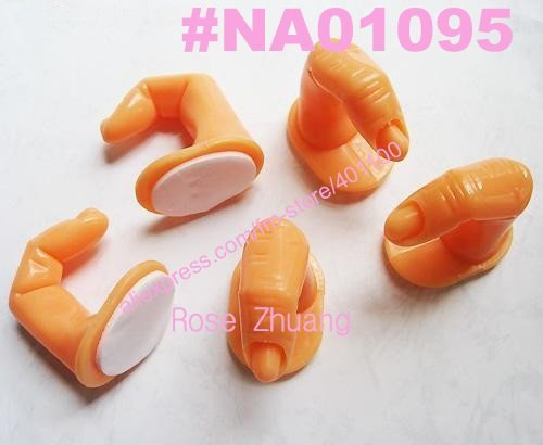 Freeshipping-5pcs Nail Art Practice Finger for Manicure Trainning Dropshipping[Retail] SKU:F0039X