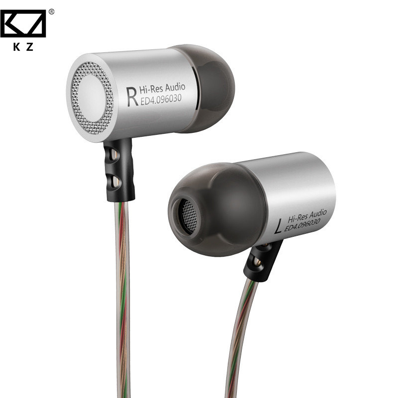 KZ ED4 Wired In-ear Dynamic Earphones 3.5mm HiFi DJ Metal Bass Stereo Earbuds With Microphone For Mobile Phone Earphone купить