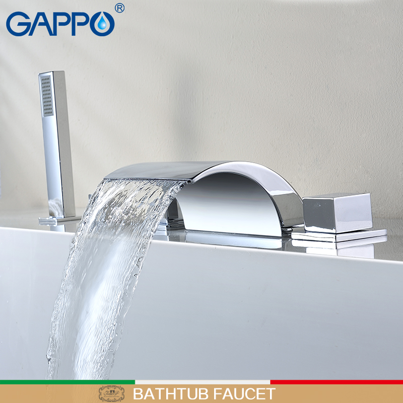 GAPPO bathtub faucet rain shower faucet waterfall bath faucet mixer hand shower bath shower faucet set