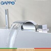 GAPPO bathtub faucet rain shower faucet waterfall bath faucet mixer hand shower bath shower faucet set robinet baignoire