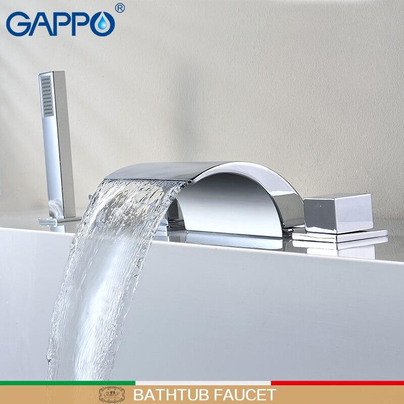 GAPPO robinet de baignoire pluie douche robinet cascade robinet de bain mitigeur douchette bain douche robinet ensemble robinet baignoire
