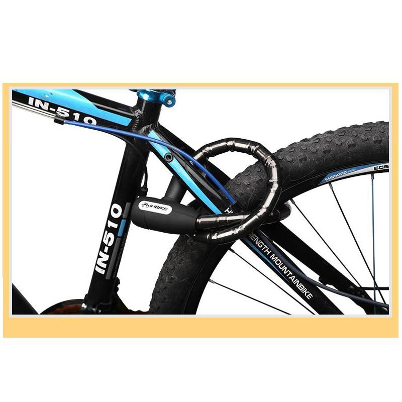 566fbcdf0344 INBIKE bicycle locks rainproof Anti theft cable lock 0.85m MTB bike lock  with 3 key iron link shell alloy steel lock end padlock-in Bicycle Lock  from ...